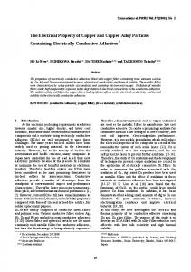 The Electrical Property of Copper and Copper Alloy ... - Osaka University