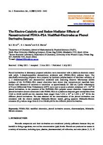 The Electro-Catalytic and Redox-Mediator Effects of Nanostructured ...
