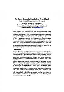 The Electro-Responsive Drug Delivery From Salicylic Acid- Loaded ...