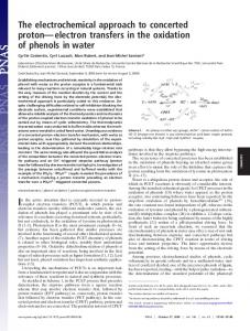 The electrochemical approach to concerted proton