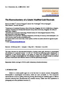 The Electrochemistry of a Gelatin Modified Gold Electrode