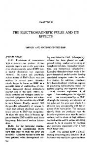 THE ELECTROMAGNETIC PULSE AND ITS EFFECTS - Fourmilab