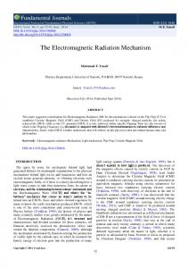 The Electromagnetic Radiation Mechanism