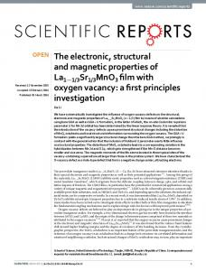 The electronic, structural and magnetic properties