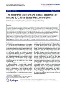 The electronic structure and optical properties of Mn ... - BioMedSearch