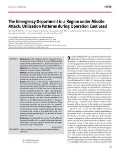 the emergency department in a region under missile attack: utilization ...