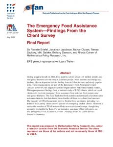 The Emergency Food Assistance System - USDA ERS