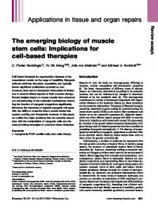 The emerging biology of muscle stem cells - BioMedSearch