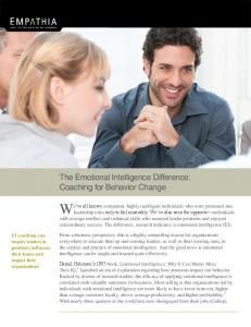 The Emotional Intelligence Difference: Coaching for ... - Empathia