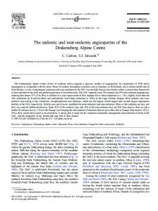 The endemic and near-endemic angiosperms of the ... - Core