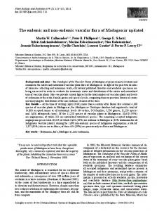 The endemic and non-endemic vascular flora of Madagascar updated