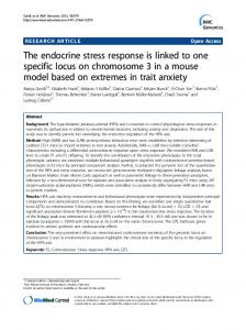 The endocrine stress response is linked to one ... - BioMedSearch