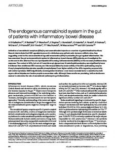 The endogenous cannabinoid system in the gut of patients ... - Nature