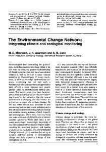 The Environmental Change Network: Integrating ... - Wiley Online Library