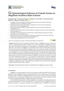 The Epidemiological Influence of Climatic Factors on Shigellosis