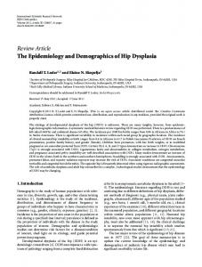 The Epidemiology and Demographics of Hip Dysplasia