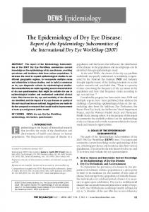 The Epidemiology of Dry Eye Disease - Tear Film & Ocular Surface ...