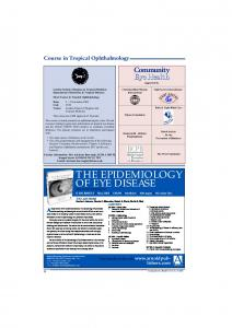 the epidemiology of eye disease - Community Eye Health Journal