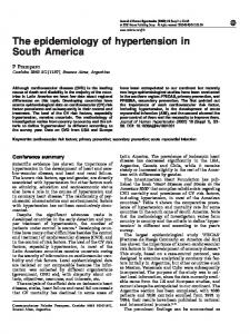 The epidemiology of hypertension in South America - Nature