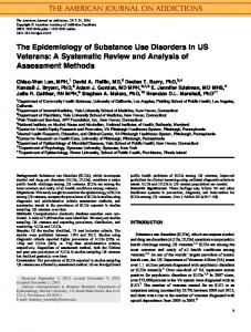 The epidemiology of substance use disorders in ... - Wiley Online Library