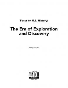 The Era of Exploration and Discovery