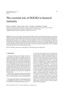 The essential role of DOCK8 in humoral immunity - IOS Press
