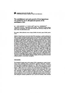 The establishment and early growth of three ... - Springer Link