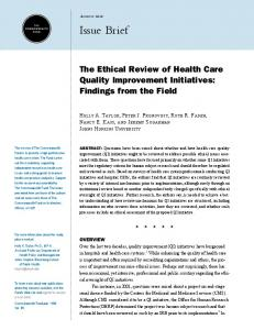 The Ethical Review of Health Care Quality ...