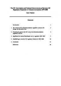 The EU Commission and National Governments as Partners: EC ...