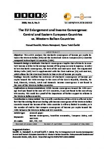 The EU Enlargement and Income Convergence