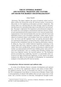 the eu internal market and national tradition and ... - Semantic Scholar