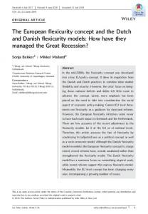 The European flexicurity concept and the Dutch ... - Wiley Online Library