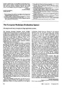 The European Medicines Evaluation Agency - Europe PMC