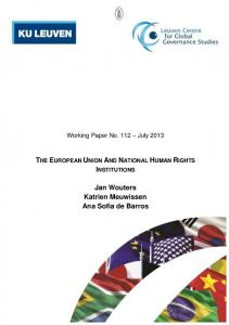 The European Union and National Human Rights Institutions - FRAME