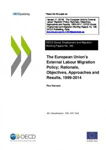 The European Union's External Labour Migration Policy - OECD iLibrary