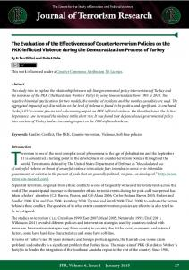 The Evaluation of the Effectiveness of Counterterrorism Policies on the ...