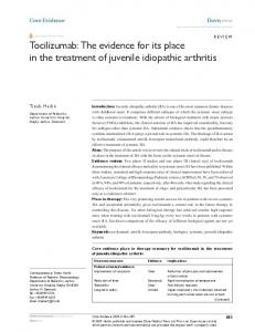 The evidence for its place in the treat - Semantic Scholar