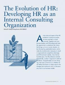 The Evolution of HR - HR People & Strategy