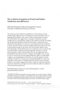 The evolution of negation in French and Italian