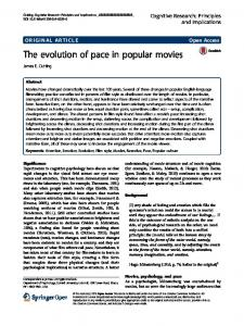 The evolution of pace in popular movies - Cornell University