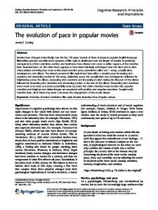 The evolution of pace in popular movies - Semantic Scholar