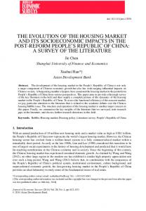 THE EVOLUTION OF THE HOUSING MARKET AND ... - (SSRN) Papers