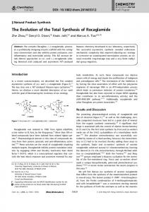 The Evolution of the Total Synthesis of ... - Wiley Online Library