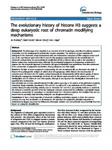 The evolutionary history of histone H3 suggests a ... - Semantic Scholar