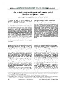 The evolving epidemiology of Helicobacter pylori infection ... - Hindawi