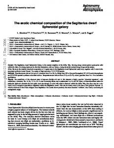 The exotic chemical composition of the Sagittarius dwarf Spheroidal ...