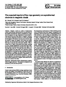 The expected imprint of flux rope geometry on suprathermal electrons ...