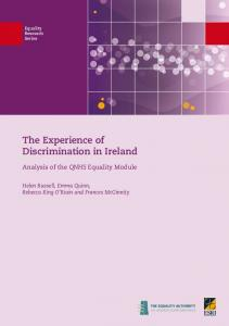 The Experience of Discrimination in Ireland - CiteSeerX