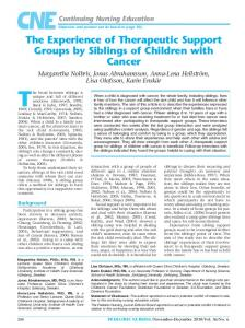 The Experience of Therapeutic Support Groups by Siblings of Children ...