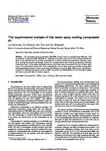 The experimental analysis of the water spray cooling compressed air